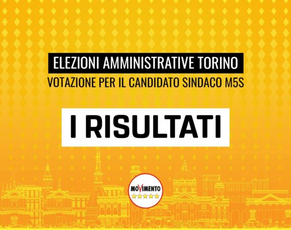 Amministrative Torino, i risultati della votazione sul candidato sindaco M5S