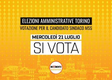 Il 21 Luglio si vota per il candidato sindaco di Torino