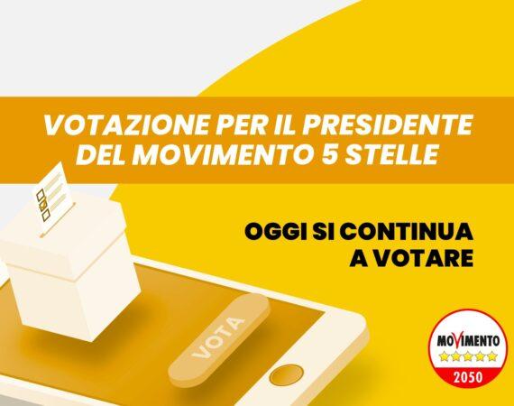 Votazione per il presidente del Movimento 5 Stelle: oggi si continua a votare