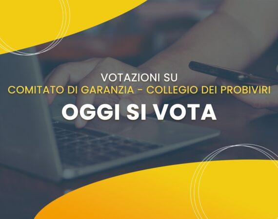 Oggi si vota per Comitato di Garanzia e Collegio dei Probiviri
