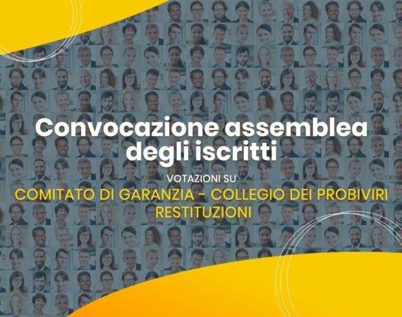 Avviso di convocazione assemblea iscritti